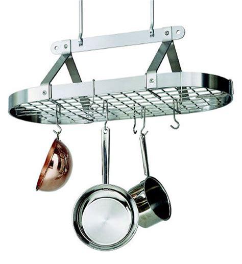 Hanging Cookware Holder 3 Foot Oval Hanging Pot Rack In Hanging Pot Racks