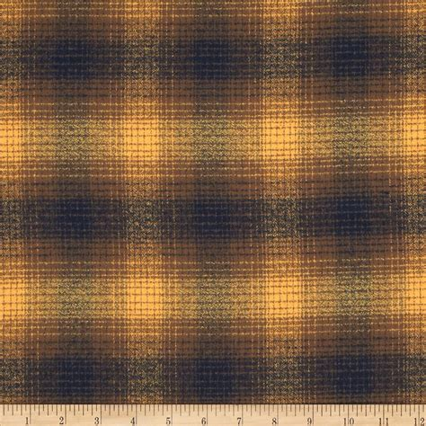 Flannel Upholstery Fabric Kaufman Mammoth Flannel Plaid Toasted Almond Discount