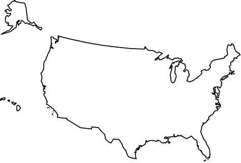 clipart of united states map outline clipart united states outline bbcpersian7 collections