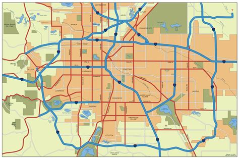 denver maps denver vector city maps as digital file purchase our eps illustrator or