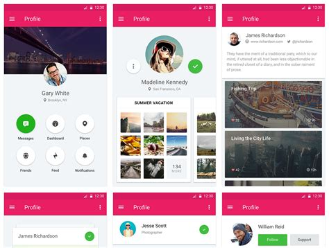 material design ui maker top 15 free material design ui kits for mobile and web