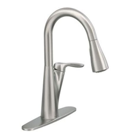 moen harlon kitchen faucet faucet com 87499srs in spot resist stainless by moen