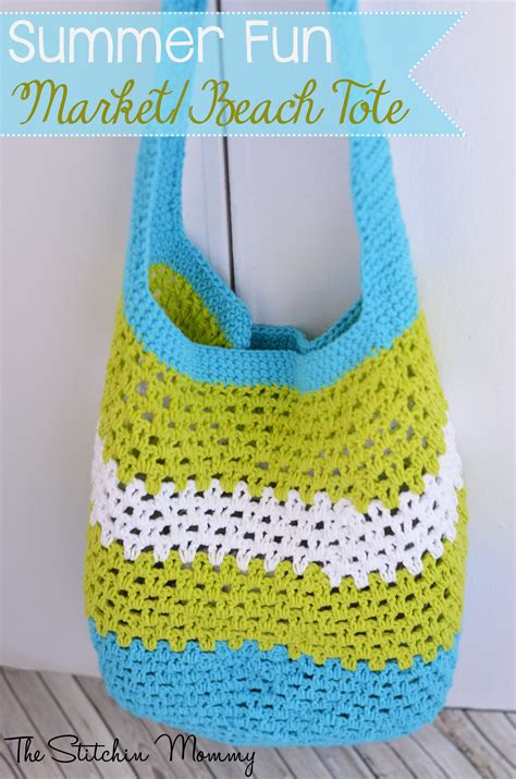 free crochet patterns bags totes purses summer fun market or beach tote free crochet pattern