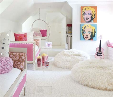 chairs for girls bedroom pink daybeds contemporary girl s room bear hill