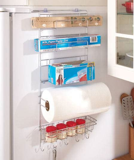 Kitchen Cabinet Spice Organizers by Over The Fridge Organizer Kitchen Storage Paper Towel