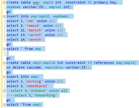 Create Table Foreign Key by Sql Create Table Add Foreign Key Constraint
