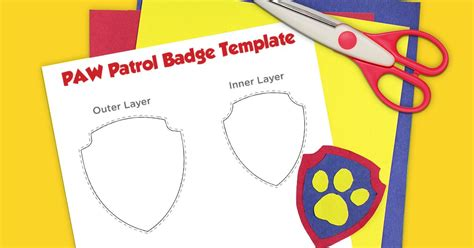 Paw Patrol Printable Badge Template Nickelodeon Parents Paw Patrol Badge Template Printable