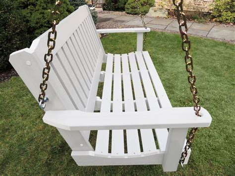 porch swing accessories highwood outdoor synthetic plastic wood porch swing set