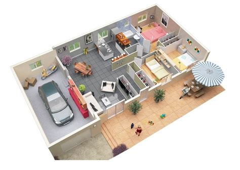 3 bed room floor plan 3 bedroom apartment house plans