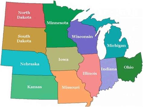 blank midwest map blank map of midwest map travel holidaymapq