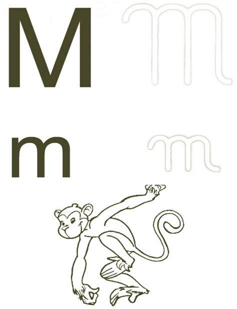 letra m para imagui letras maiusculas para colorir letras maiusculas para colorir