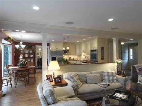 Flooring For Living Room And Kitchen by Flooring Open Floor Plan Kitchen And Living Room With