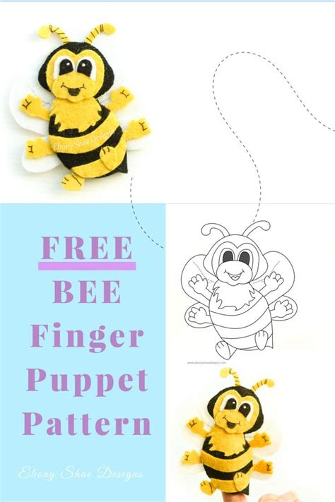 free pdf pattern bee finger puppet grab your free bee