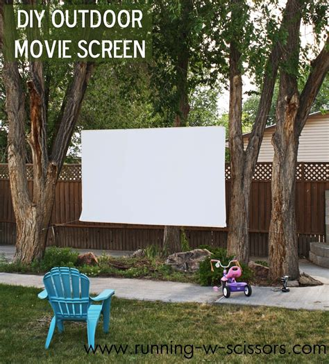 backyard theater screen running with scissors diy outdoor screen