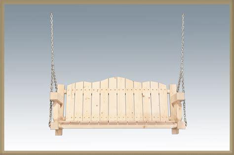 unfinished porch swing pine log furniture unfinished homestead porch swing black