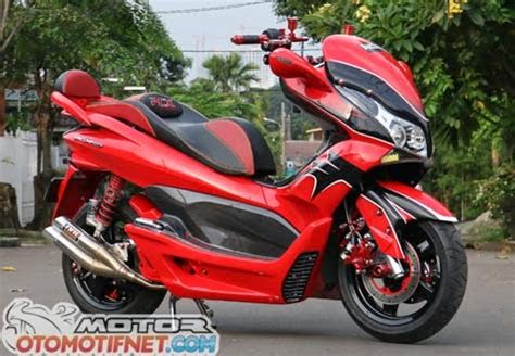 Pcx 2018 Modification by Modifikasi Honda Pcx 150 Merah Go Goblog