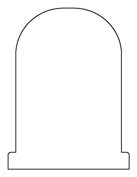 headstone templates tombstone shape outline www pixshark images