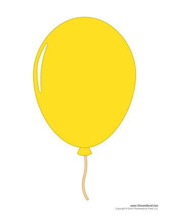printable balloon template birthday printables