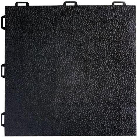 basement floor tiles home depot greatmats staylock orange peel top black 12 in x 12 in x