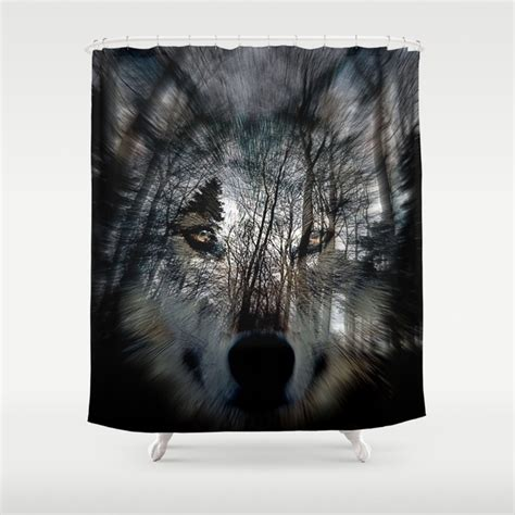 wolf shower curtain wolf shower curtain by agostino lo coco society6
