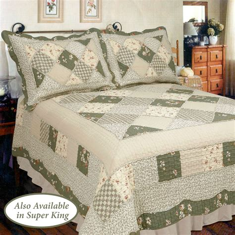 Patchwork Quilt Bedspreads - country charm patchwork quilt bedding