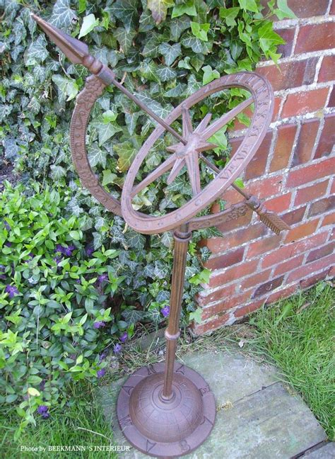 Iron Garden Decor Sundial Large Garden Decor Cast Iron 95cm High New Ebay