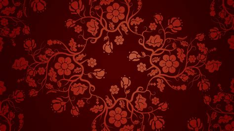chinese pattern hd pattern vector chinese floral graphics red background