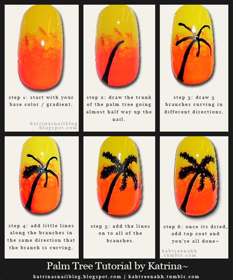 nail art tutorial palm tree katrina s nail blog palm tree tutorial