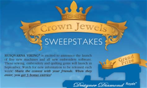 Sewing Machine Sweepstakes 2016 - husqvarna viking sewing machine crown jewels sweepstakes win a husqvarna viking
