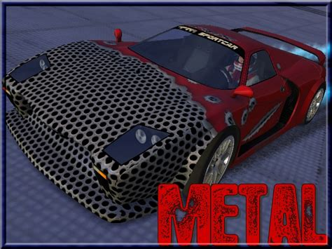 Ripped Model R3 by Trackmania Carpark 2d Skins Ripped Metal Hd