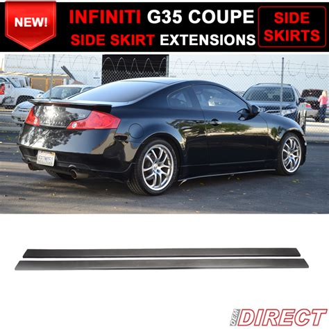 infiniti g35 side skirts 03 07 fit for infiniti g35 coupe side skirt extensions