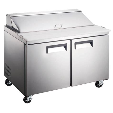 refrigerated sandwich prep table refrigerated salad sandwich prep table 60 inches two door