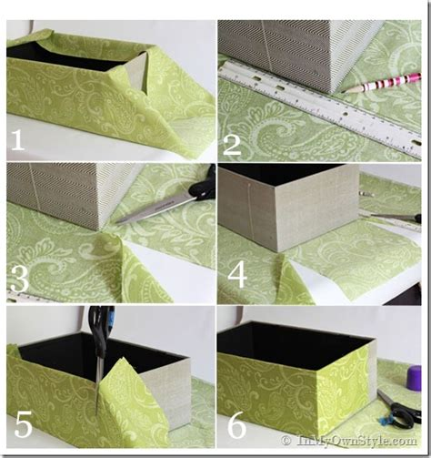 How To Make Paper Box With Cover - one yard d 233 cor fabric covered boxes in my own style