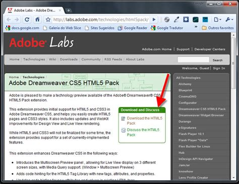 html5 extension in dreamweaver cs5 tutorial deixando seu dreamweaver cs5 com suporte para html5 e css3