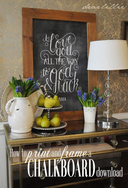 diy chalkboard print 20 best diy frame tutorials it s always autumn