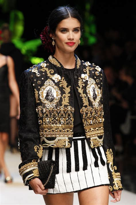 Milan Fashion Week by Saio On The Runway At Dolce Gabbana Fashion Show