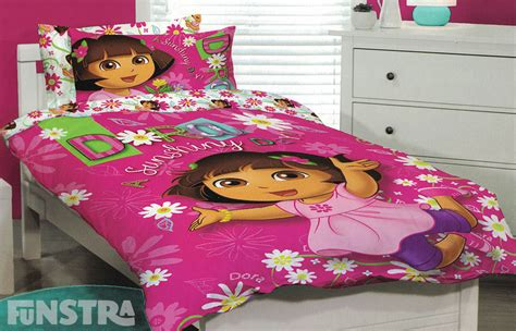 dora bedroom set dora the explorer quilt doona duvet cover set girls