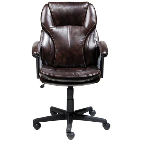 Office Chair Faux Leather by Manager Office Chair In Brown Puresoft Faux Leather 43669