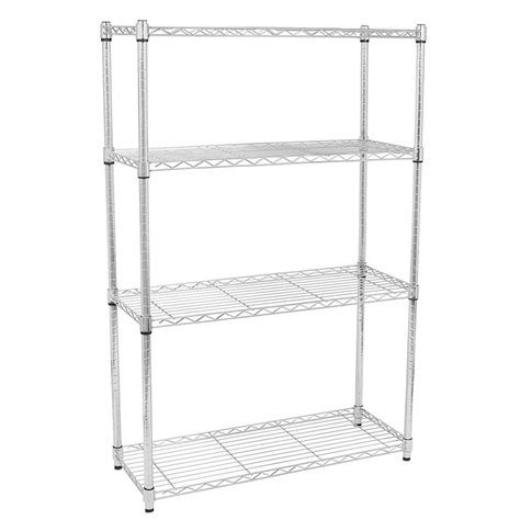 4 tier 56x36x14 quot shelf shelving rack metal adjustable unit