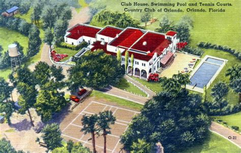 Orlando Florida Court Records Florida Memory Club House Swimming Pool And Tennis Courts Country Club Of Orlando