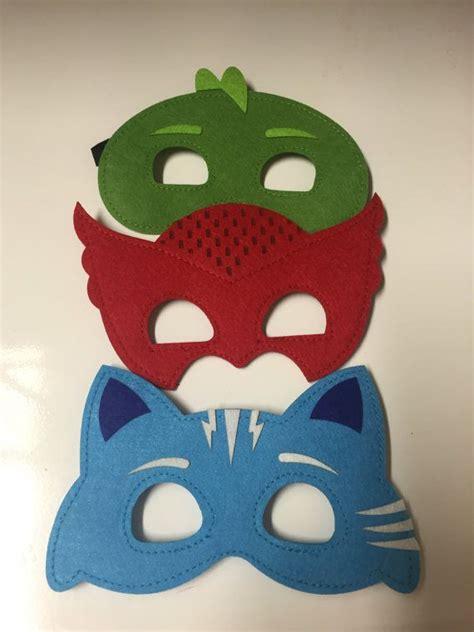 Pj Masks Set Isi 6 pj masks set of 6 masks pj masks costume gekko by