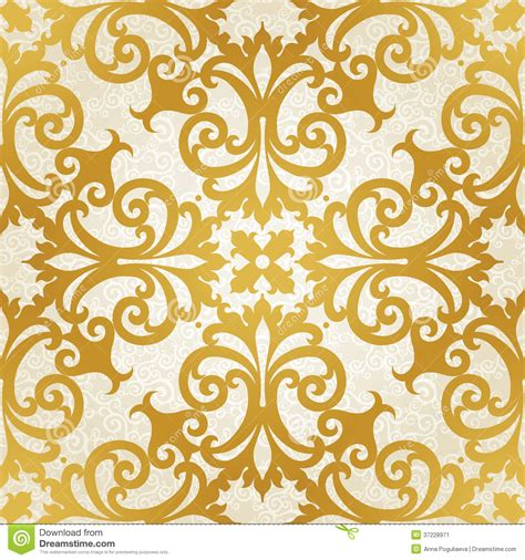 motif pattern background vector seamless pattern with swirls and floral motifs in