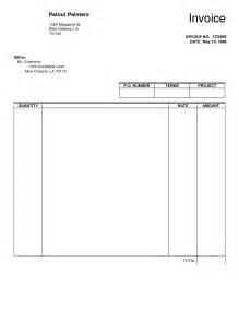 empty template best photos of fill in and print invoices free printable