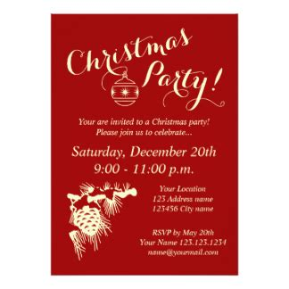 company christmas party invitations announcements