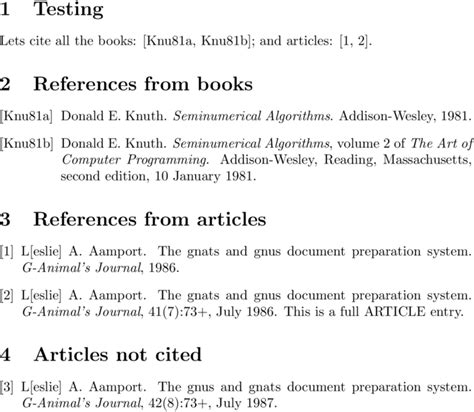 what is a reference section biblatex sectioning bibliography by type of referred