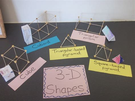 How To Make 3d Geometric Shapes Out Of Paper - a crucial week 3 d shapes with concrete materials