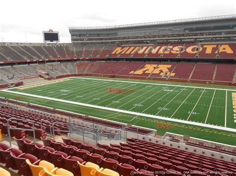 bank sections tcf bank stadium section 207 minnesota football