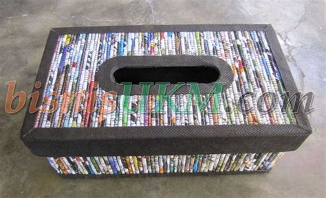 cara membuat kerajinan non organik memanfaatkan limbah koran untuk kerajinan tangan rikakiki