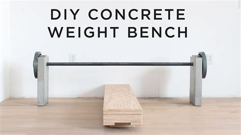 how to make a homemade weight bench diy concrete weight bench youtube