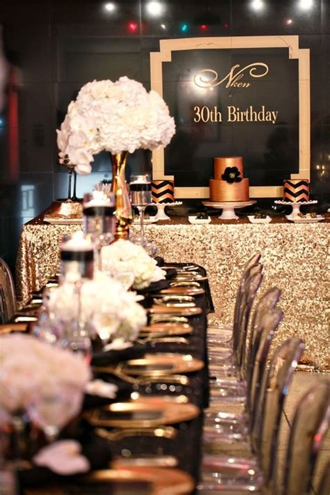 colour themes for 30th birthday 1920 s gatsby party decorating ideas